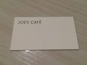 JOE'S CAFEの名刺