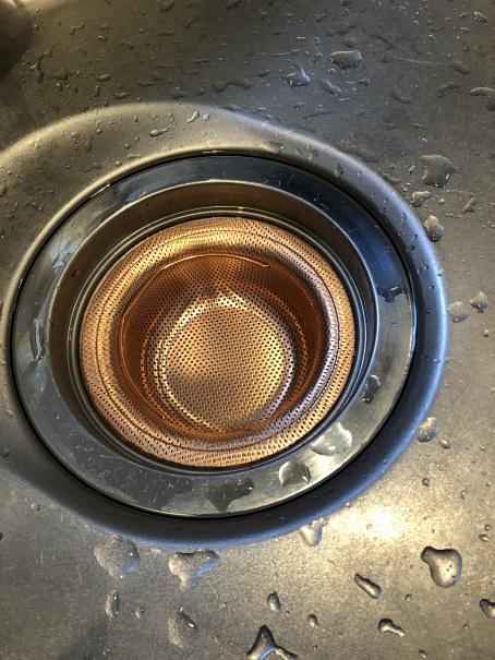 銅製の排水口ゴミ受け